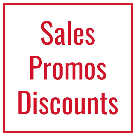 Sales, Close Outs & New Products