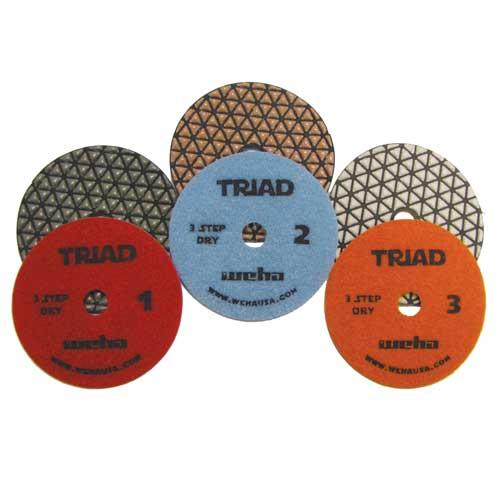 "Weha Triad 3-Step Dry Polishing Pads 4"""