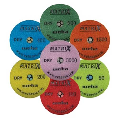 "Weha Matrix Honeycomb 7-Step Dry Polishing Pads 4"""