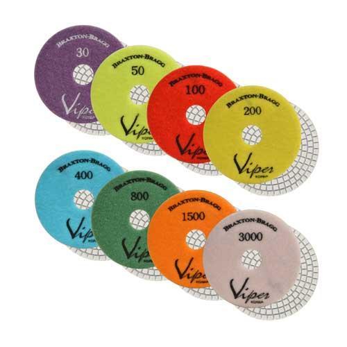Viper White Resin Wet 7-Step Polishing Pads