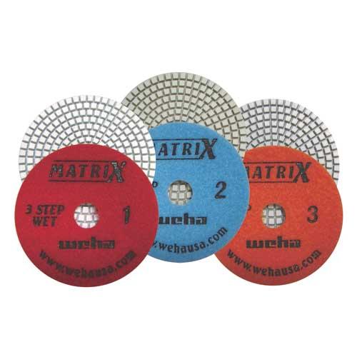Weha Matrix 3-Step Diamond Wet Polishing Pads