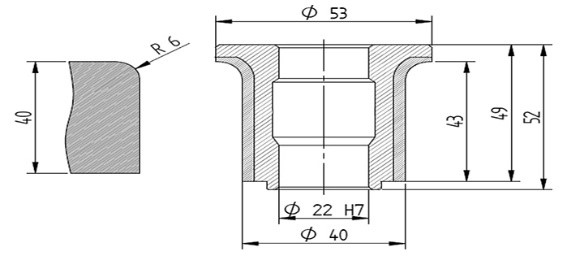 Diamut A43 R6 CNC Profile Wheel