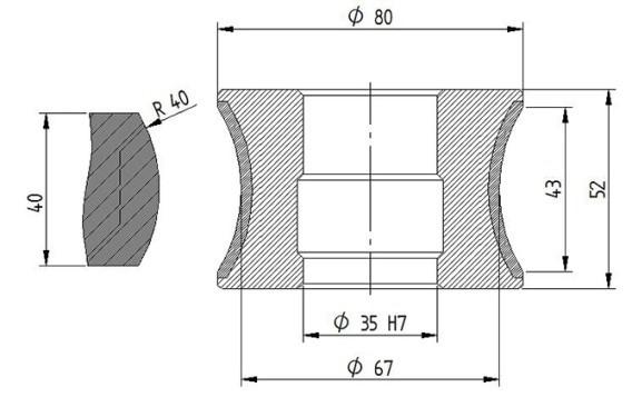 Diamut AK2 43 R40 CNC Profile Wheel