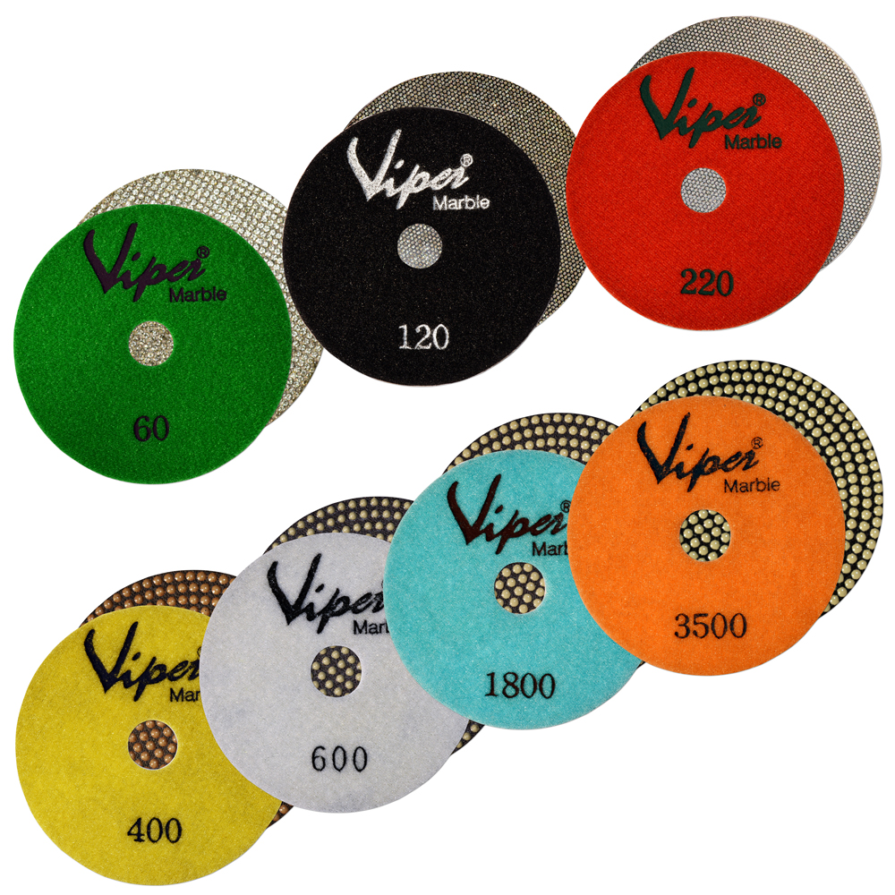 Viper Marble Electroplated Flexible Wet Polishing Pads