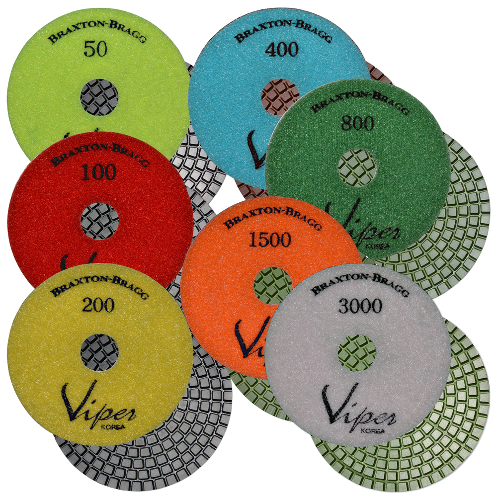 Viper 7-Step Wet Diamond Polishing Pads