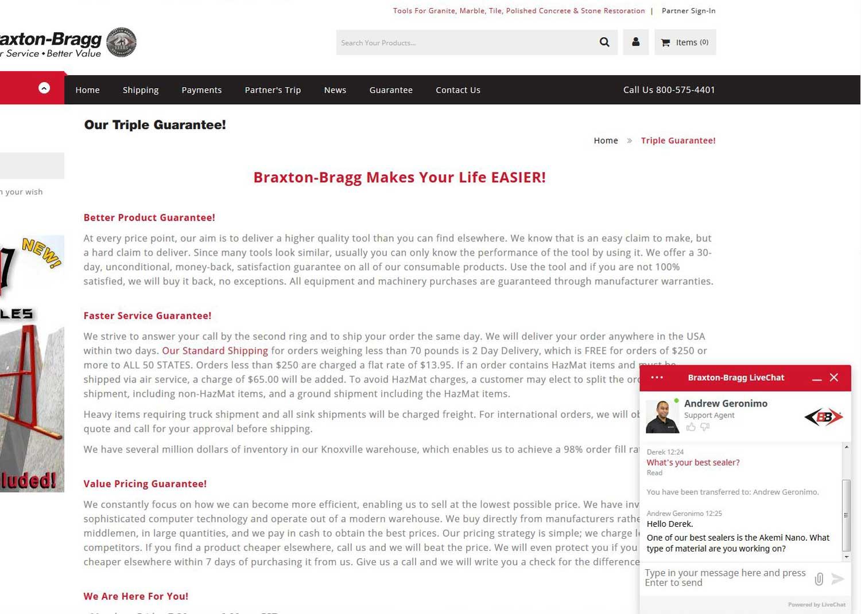 Braxton-Bragg Live Chat