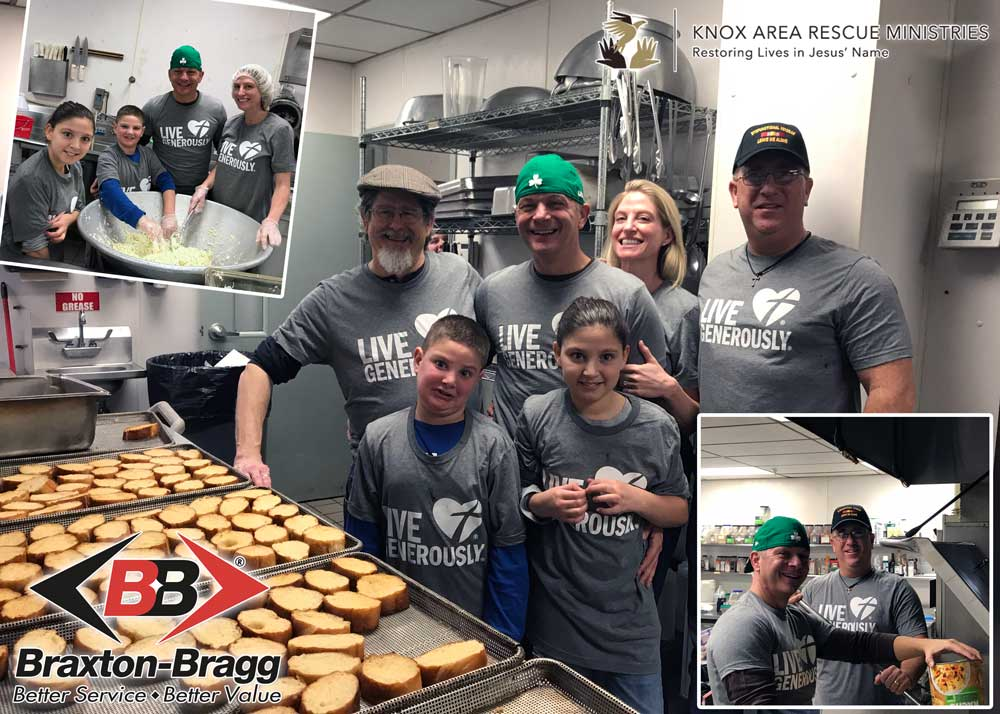 Employees Volunteer And Serve Meals At KARM